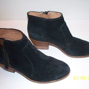 Madewell Janice Ankle Boots 6.5 Black Suede